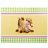Pink Cowgirl Activity Placemats