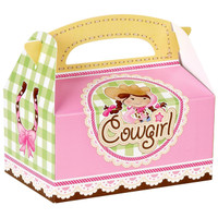 Pink Cowgirl Empty Favor Boxes