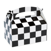 Black and White Check Empty Favor Boxes