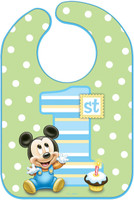 Disney Mickey's 1st Birthday Bib