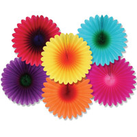 Mini Flower Fans Assorted