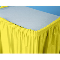 Mimosa (Light Yellow) Plastic Table Skirt
