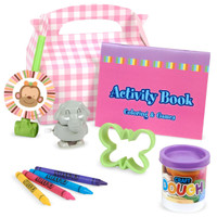Sweet Safari Pink 1st Birthday Party Favor Box