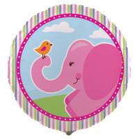 Pink Elephants Foil Balloon
