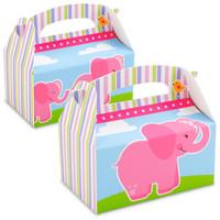 Pink Elephants Empty Favor Boxes