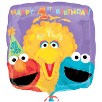 Sesame 1st Birthday Foil Balloon