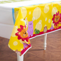 Safari Friends 1st Plastic Tablecover