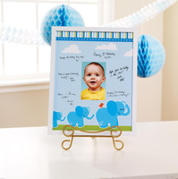 Blue Elephants Framed Signature Matte