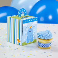 Blue Elephant Cupcake Boxes