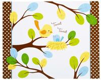 Sweet Tweet Bird Blue Activity Placemats