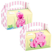 Hippo Pink Empty Favor Boxes