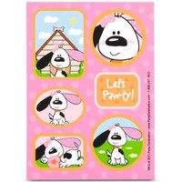 Playful Puppy Pink Sticker Sheets