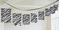 Zebra Paper Lantern Garland