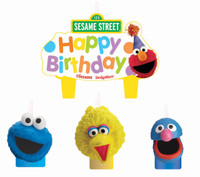 Sesame Street Party Molded Cake Candles