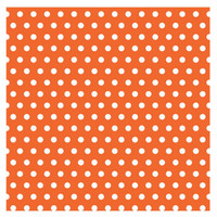 Orange with Jumbo Polka Dots Gift Wrap 16ft