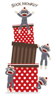 Sock Monkey Red Standup