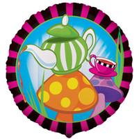 Topsy Turvy Tea Party Foil Balloon