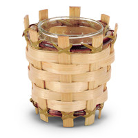 Natural Bamboo Votive Holder