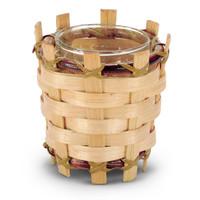 Natural Bamboo Votive Holder