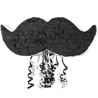 Little Man Mustache Pull-String Pinata