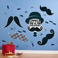 Little Man Mustache Giant Wall Decals