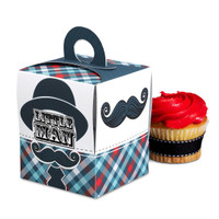 Little Man Mustache Cupcake Boxes