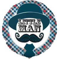 Little Man Mustache Foil Balloon