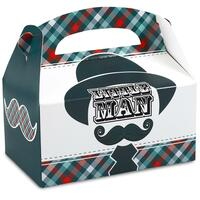 Little Man Mustache Empty Favor Boxes
