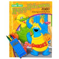 Sesame Street Halloween Jumbo Coloring Book and Crayons Set