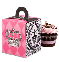 Elegant Princess Damask Cupcake Boxes