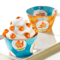 Goldfish Reversible Cupcake Wrappers