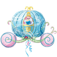 Disney Princess Carriage Shaped Jumbo Foil Balloon