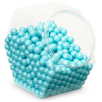 Shimmer Powder Blue Sixlets Candy