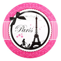 Paris Damask Round Activity Placemats