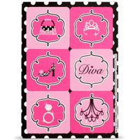 Diva Zebra Print Stickers