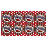 Sock Monkey Small Lollipop Sticker Sheet