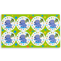 Dinosaurs Small Lollipop Sticker Sheet