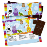 Safari Friends Large Candy Bar Wrappers