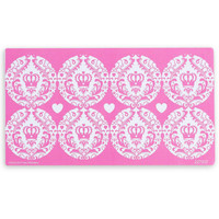 Elegant Princess Damask Small Lollipop Sticker Sheet