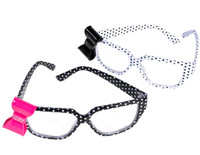 Polka Dot Nerd Glasses with Bow