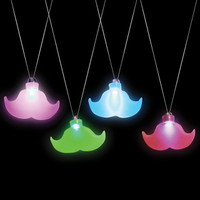 Light Up Moustache Necklace