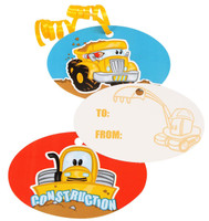Construction Pals Gift Tags