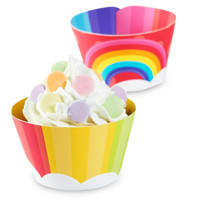 Rainbow Wishes Cupcake Wrappers