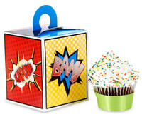 Superhero Comics Cupcake Boxes