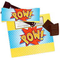 Superhero Comics Small Candy Bar Wrappers