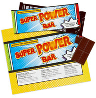 Superhero Comics Large Candy Bar Wrappers