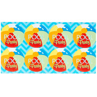 Splashin' Pool Party Large Lollipop Sticker Sheet