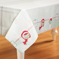 Little Spa Party Plastic Tablecover