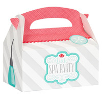 Little Spa Party Empty Favor Boxes