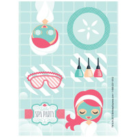 Little Spa Party Sticker Sheets